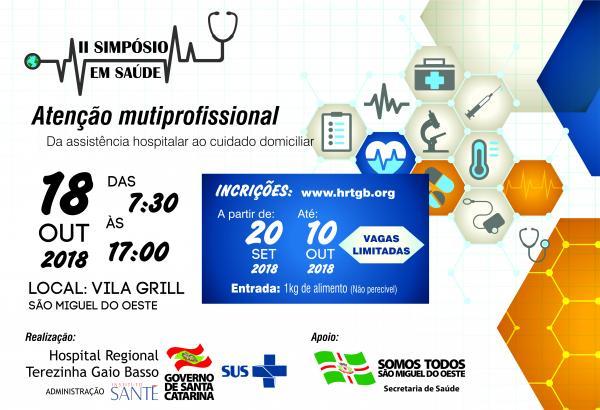 2º Simpósio em Saúde do Hospital Regional está com inscrições abertas