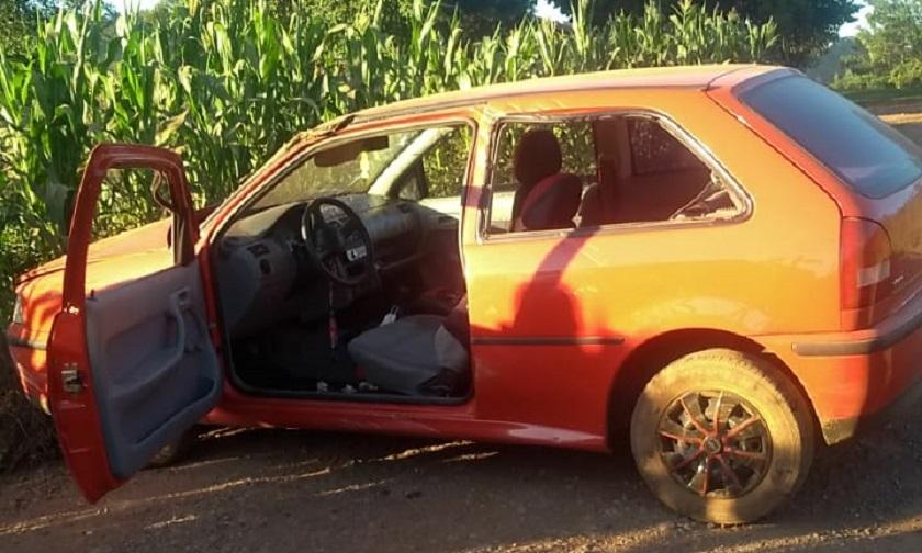 Motorista ferida em capotamento no interior de Iporã do Oeste