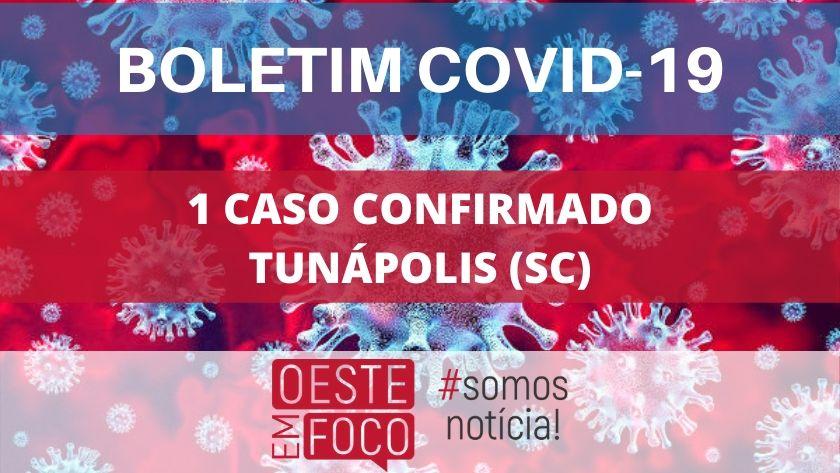 Tunápolis tem primeiro caso confirmado de coronavírus