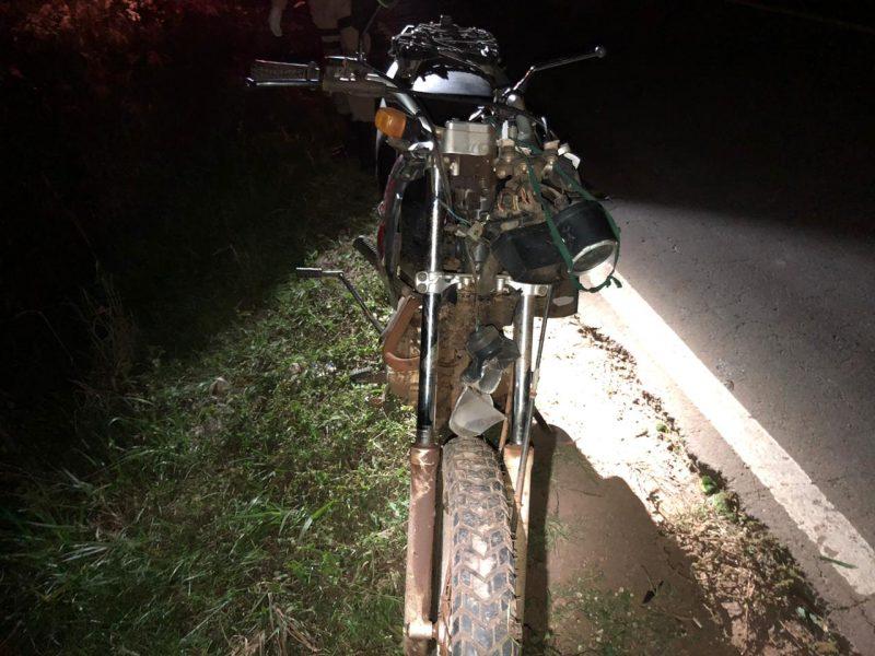 Idoso é atropelado por motocicleta em Chapecó