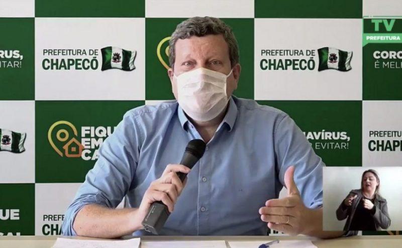 Prefeito de Chapecó fala em 'medidas drásticas' após mortes e aumento de casos