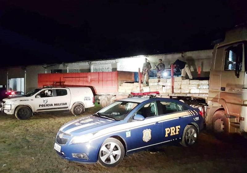 Ação conjunta faz maior apreensão de maconha em Santa Catarina