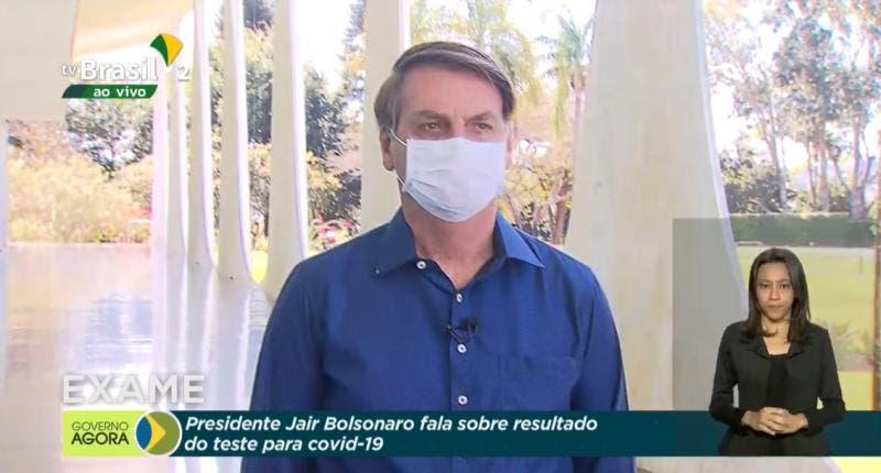 Presidente Jair Bolsonaro testa positivo para coronavírus