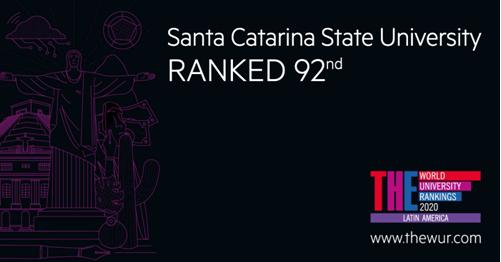 Udesc avança e está entre as cem melhores universidades em ranking da América Latina