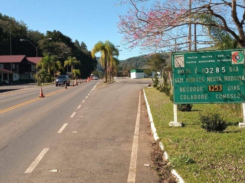 Rodovia SC-453 está há nove anos sem mortes entre Tangará e Luzerna