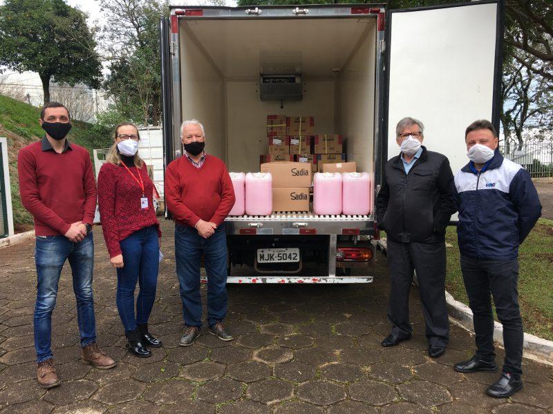 Agroindústria doa produtos de higiene e luvas ao Hospital Regional, em Chapecó