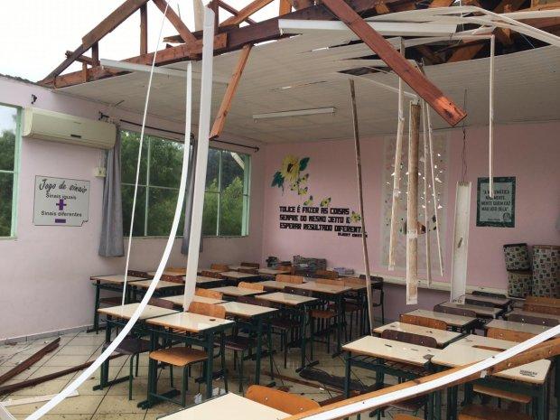 Ciclone em SC: Governo dá início à recuperação de 412 escolas atingidas pelo fenômeno