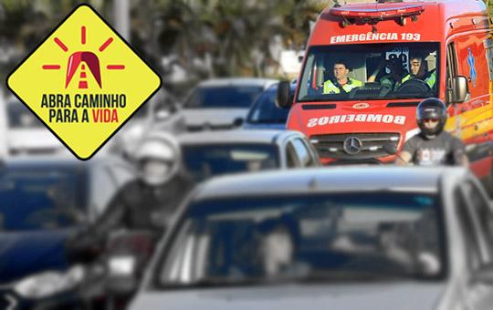 """Corpo de Bombeiros, Samu e SC Transplantes se unem em campanha """"Abra Caminho para a Vida"""""""