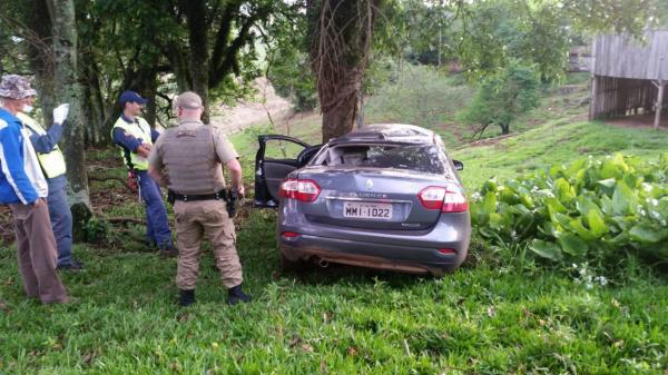 Motorista embriagado sofre acidente na SC-492 em Tigrinhos
