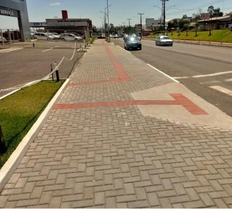 Passeios públicos devem ser adequados até o final do ano no Centro de São Miguel do Oeste