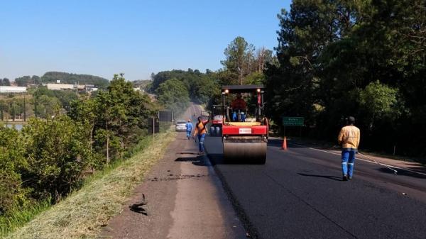 Obras de restauração e ampliação nas BR's 282 e 158 seguem em ritmo acelerado