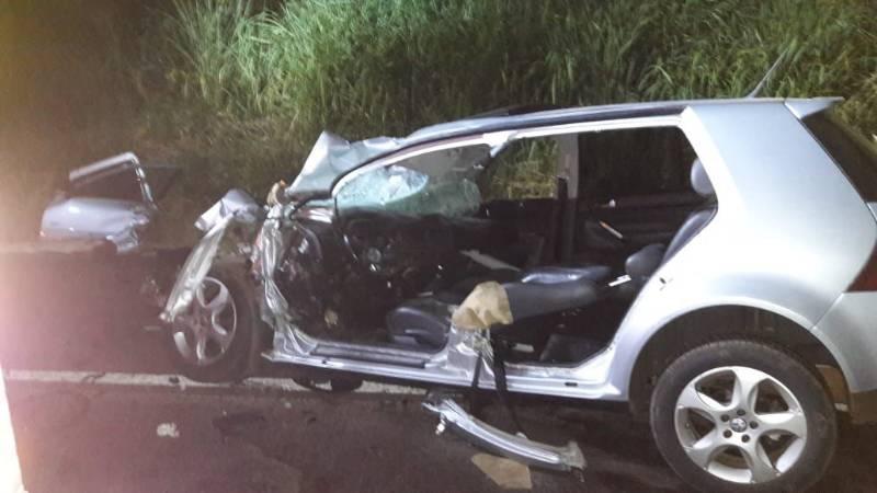 Colisão frontal deixa dois mortos na BR-282 em Nova Erechim