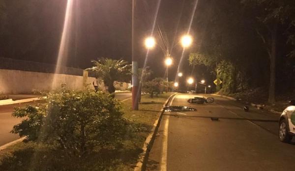 Motociclista morre em choque em poste na SC-283 em Mondaí