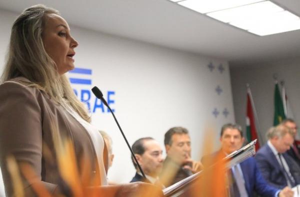 Daniela Reinehr destaca parcerias com setor privado na posse da nova diretoria do Sebrae