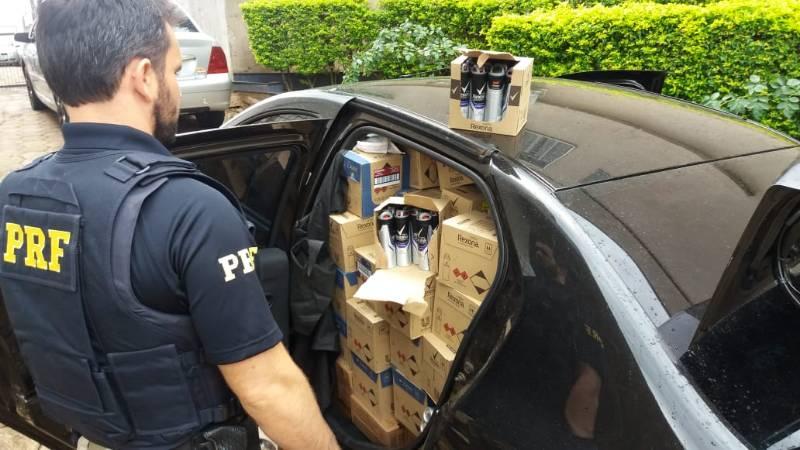 PRF apreende mais de 3 mil desodorantes contrabandeados em Dionísio Cerqueira