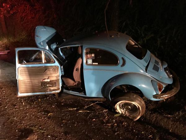 Jovem morre em saída de pista e choque em árvore na BR-282