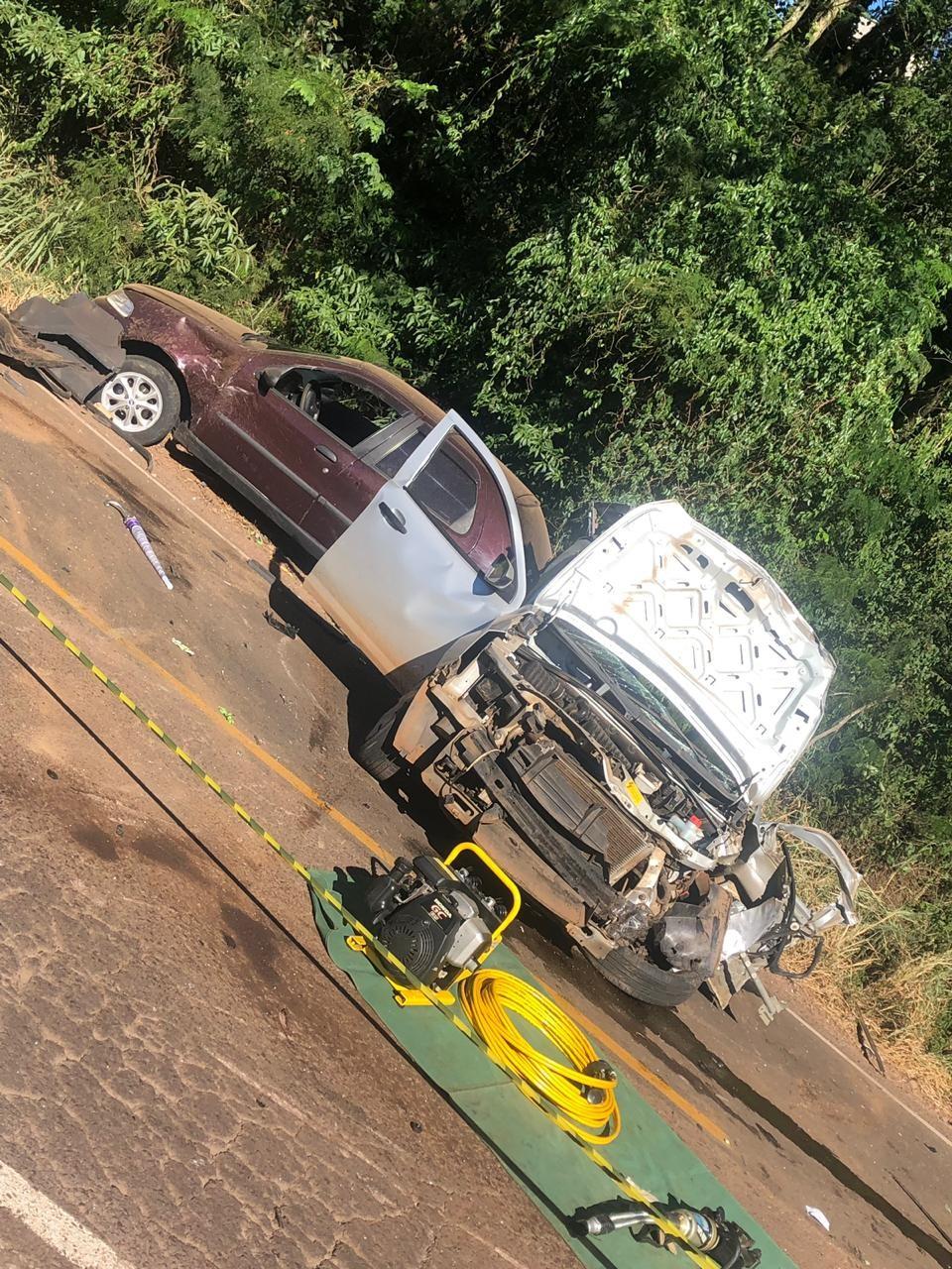 Mulher morre em tripla colisão na SC-163 em Itapiranga