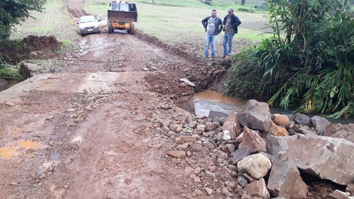 Chuva torrencial causa estragos em Descanso