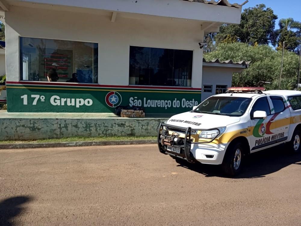 Adolescente é apreendido com 31 quilos de maconha em São Lourenço do Oeste