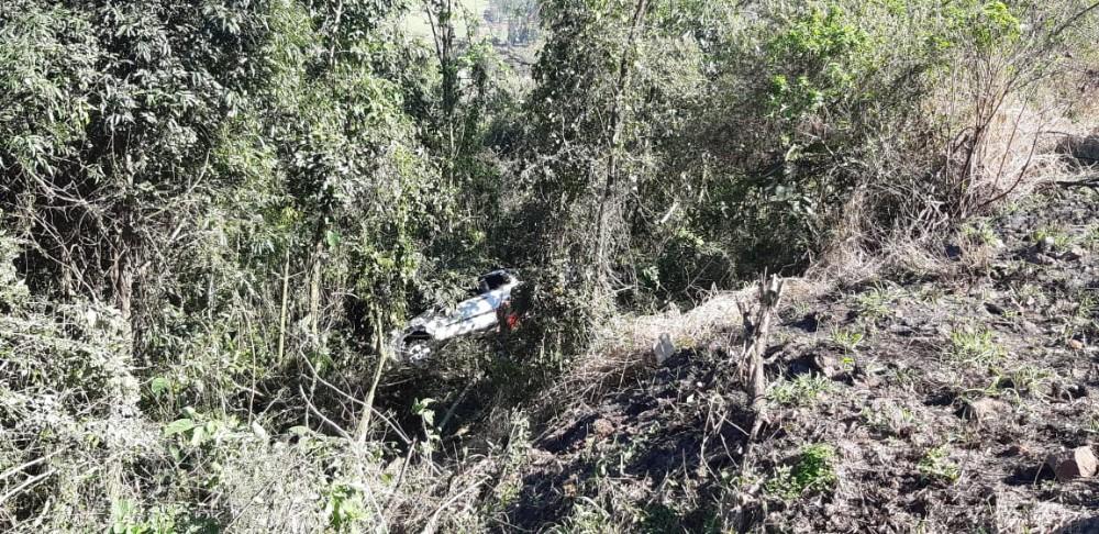 Motorista ferido em queda em barranco na BR-163 em Guaraciaba