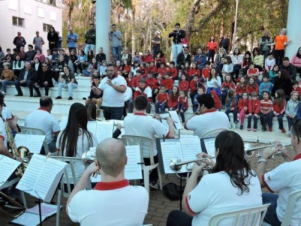 Turnê da Banda Municipal de Corupá passa por São Miguel do Oeste