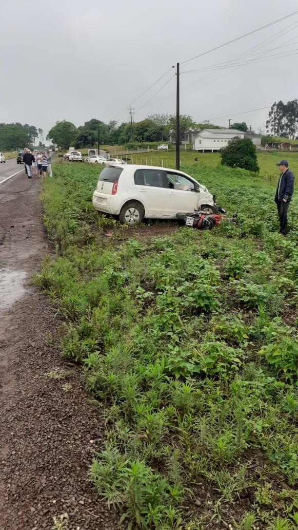Motociclista morre em colisão frontal na SC-163 em São João do Oeste