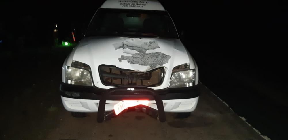Veículo funerário se envolve em acidente com morte na BR-282