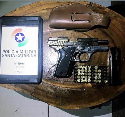 Homem armado é preso ao fazer ameaças no interior de São João do Oeste