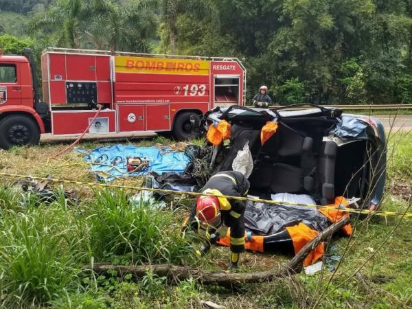 Sargento da PM morre em acidente na SC-154