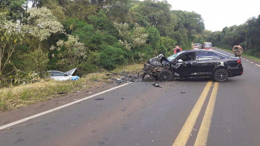 Empresário morre em colisão frontal na BR-163 em Dionísio Cerqueira